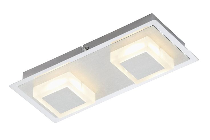 Briloner Leuchten Wall Light include 2 LED, Aluminium Chrome, Integrated, 5 W, 400 lm