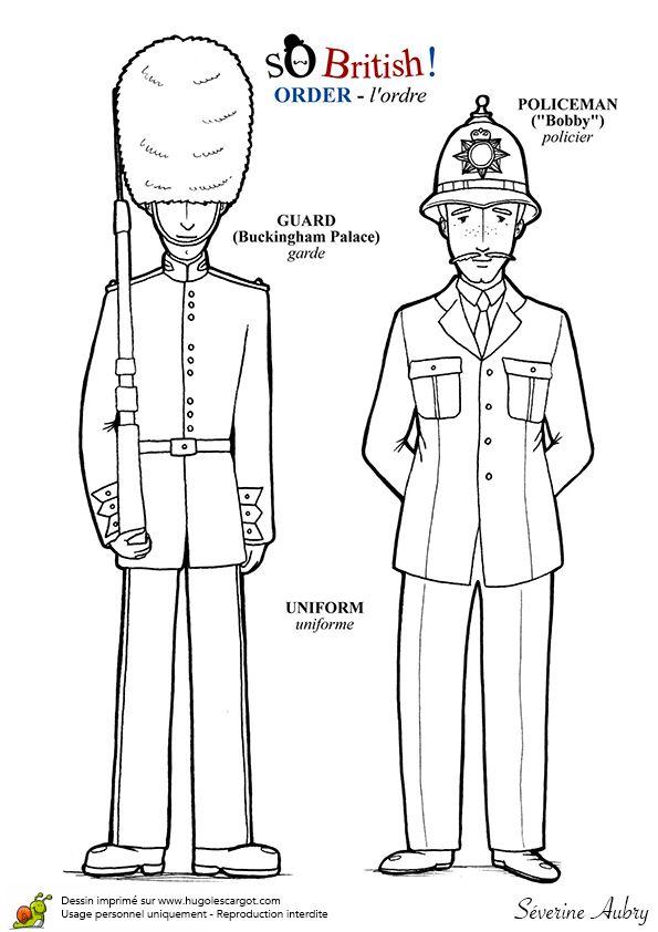 policier et garde anglais