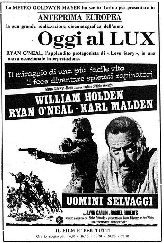 """Uomini selvaggi"" (Wild Rovers, 1971) di Blake Edwards, con William Holden e Ryan O'Neal. Italian release: November 27, 1971 #MoviePosters #WilliamHolden"