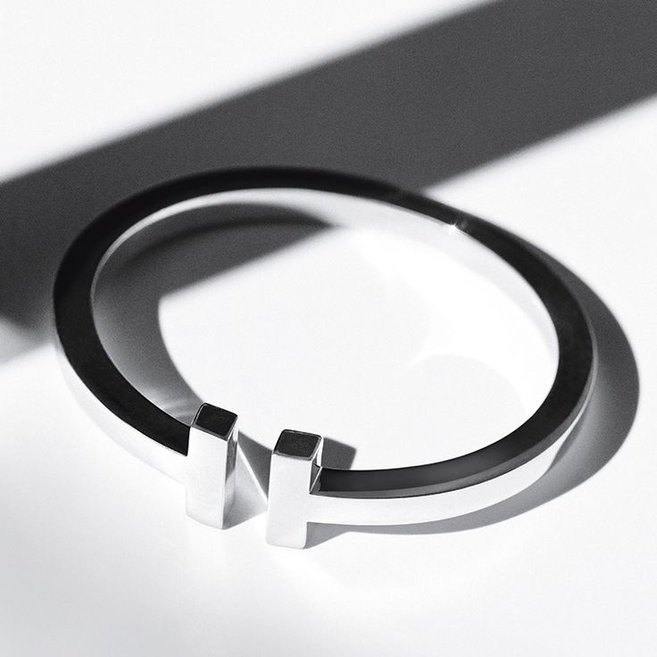 The Tiffany T square bracelet in sterling silver is a stunning design alone or stacked.