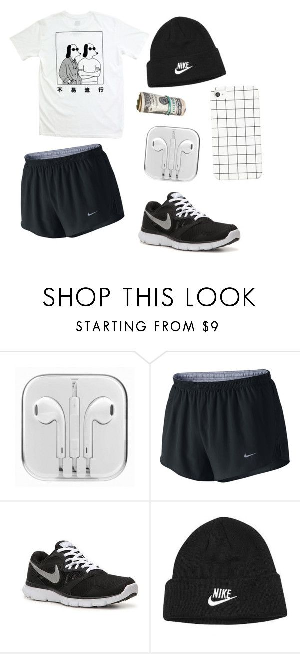 """i woke up at 5am to go jogging"" by jamesgrainger ❤ liked on Polyvore featuring NIKE"