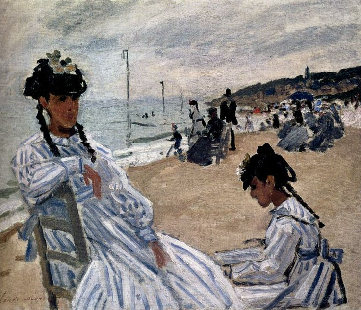 Monet, On the Beach at Trouville, 1870-1871//