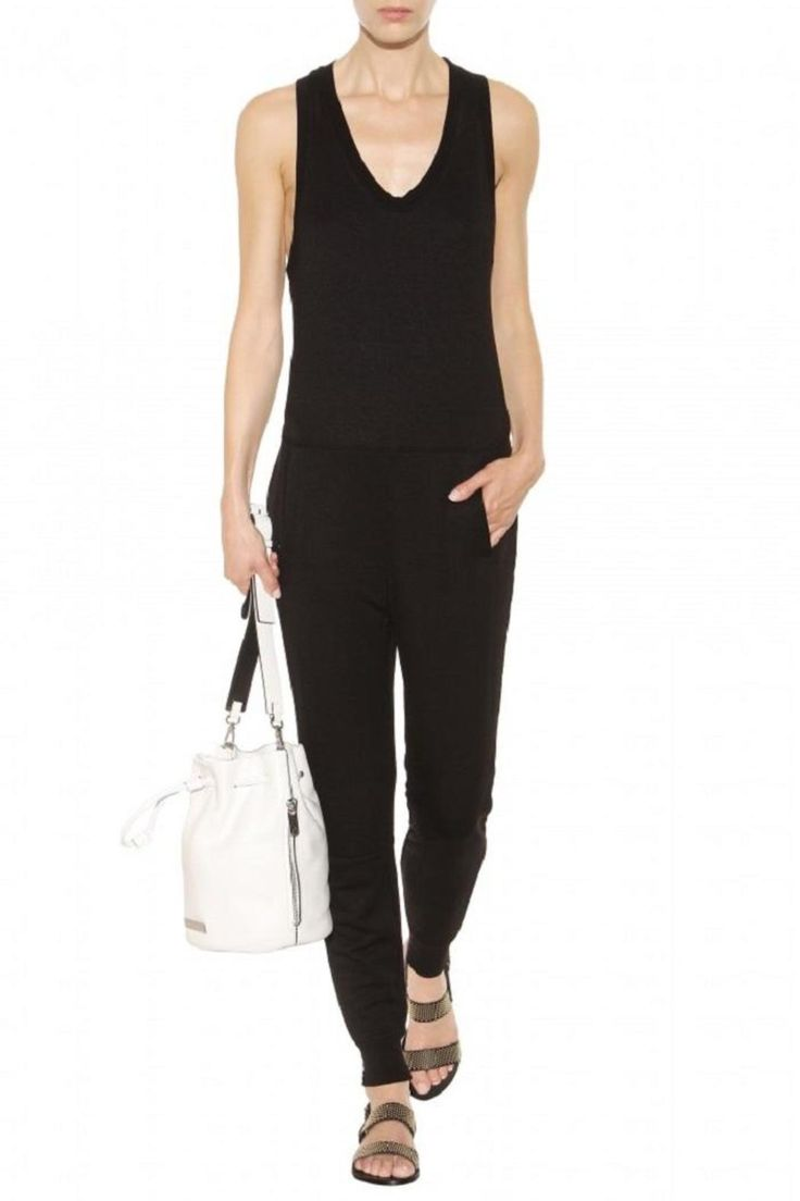 This T by Alexander Wang jumpsuit is made from soft French Terry, which is incredibly comfortable and easy to wear. Whether it be worn traveling or for a day of shopping, the clean lines allow for a great look. Layer it up with a leather jacket or a denim jacket for easy wearing.    Terry Jumpsuit  by T by Alexander Wang. Clothing - Jumpsuits & Rompers - Jumpsuits Canada