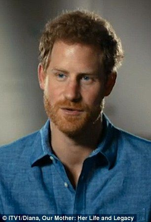 """dailymail: Prince Harry discusses his mother in the ITV documentary """"Diana, Our Mother: Her lIfe and Legacy"""" to air in the UK in July 2017"""