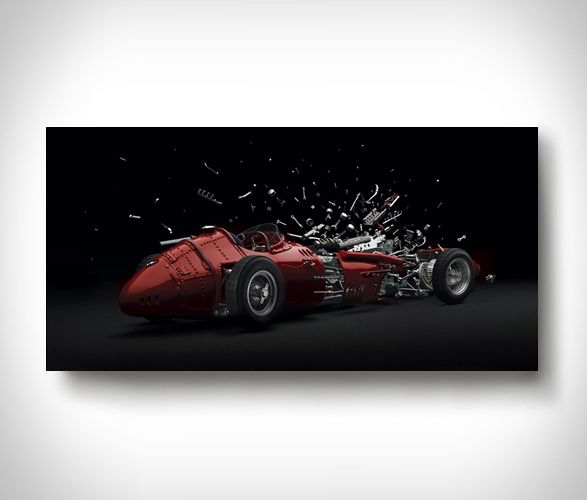 Disintagrating Series is a set of HD photos that lead us to believe that high performance cars are disintegrating, and doing it in super slow mo and high def detail, this really triggers our morbid curiosity… who doesn't love a good nice blow up of a