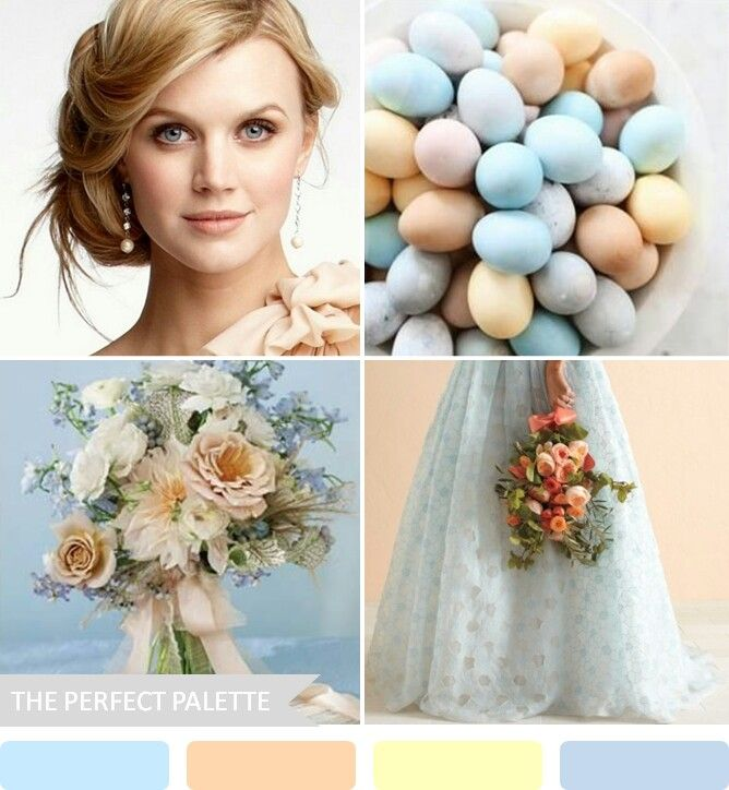 Mint, robins egg blue & blush peach