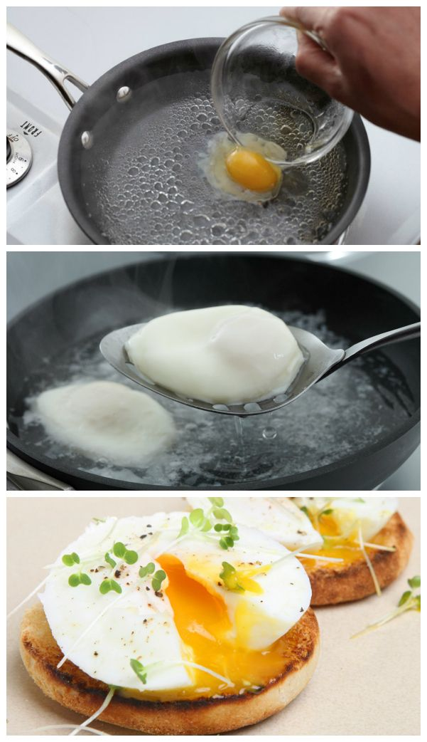 How to easily poach eggs, I add some vinegar and salt to my water as well.