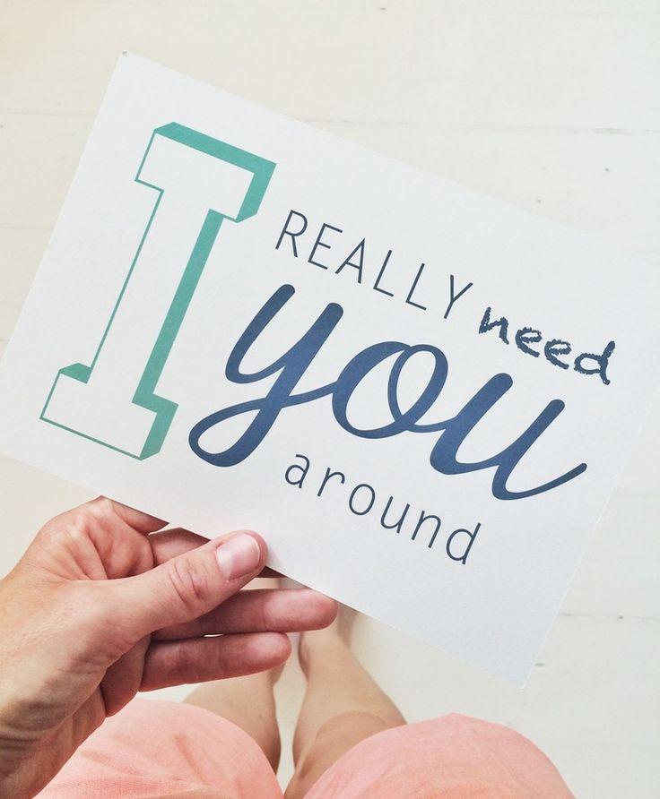 [ I really need you around ] postcards byhornung
