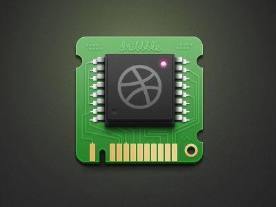 dribbble chip 20 Brilliant Examples of Skeuomorphic UI Design
