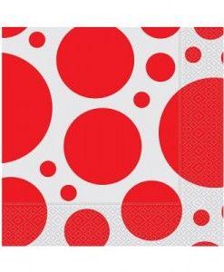 Doğum günü parti süslemeleri için birinci kalite Kırmızı Puantiyeli Kağıt Peçete ürünümüzü online olarak uygun fiyatlar ile satın…