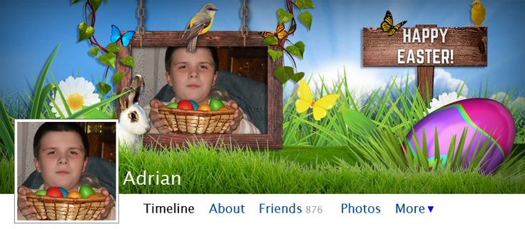 Easter is coming, so it's time to make your facebook timeline look distinctive and special!