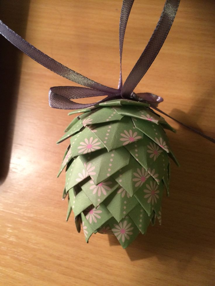 Pine cone I made for a resident at work