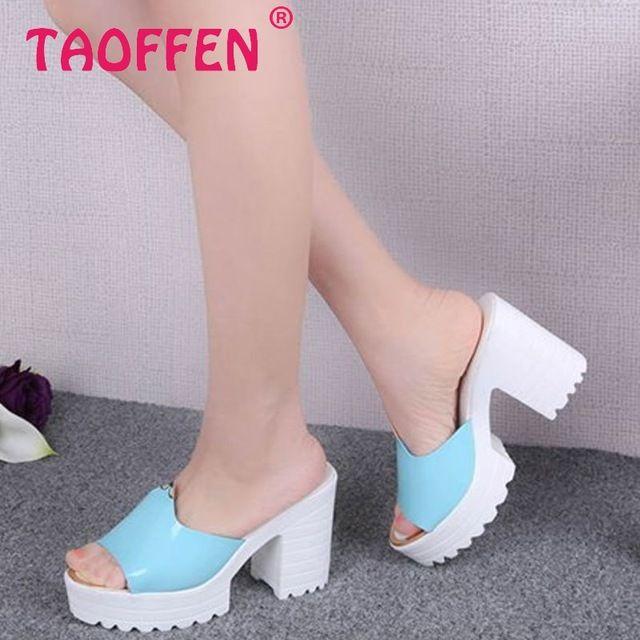 Женские летние тапочки обувь мода платформы мягкие сандалии женщины квадратных высокие каблуки толстые пятки сандалии размер 35 - 39 WA0814