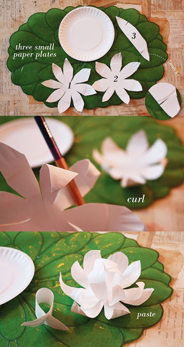 Friday Flowers: Paper Plate Magnolias from Aunt Peaches blog