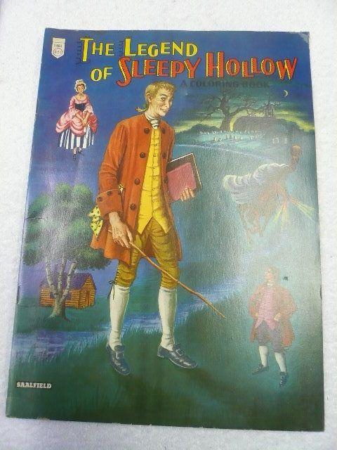 The Legend Of Sleepy Hollow Coloring Book1950s Saalfield Unused