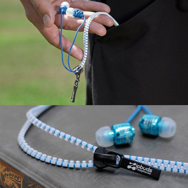 Zipper Earphones by Zipbuds.