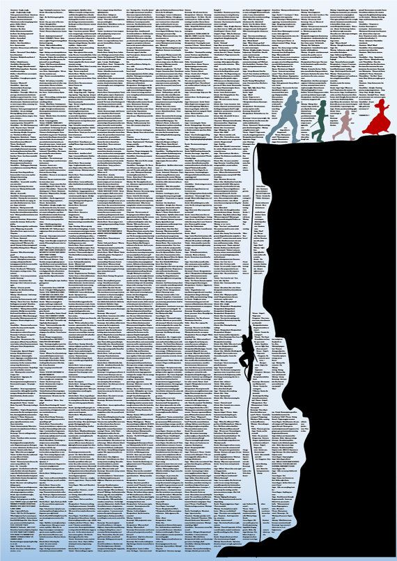This poster includes the entire movie script of The Princess Bride