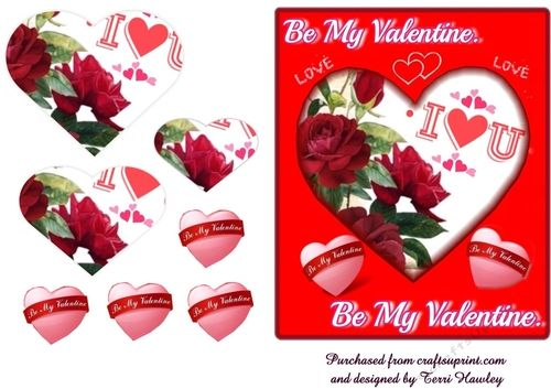 This is a lovely 3D valentines card that you can send you anyone, wife, husband, girl friend, boy friend, any one really.   Very easy to make and fits any A5 envelope when finished.