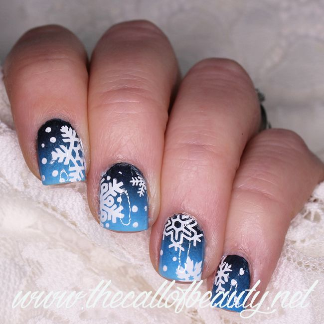 364 best the call of beauty nail art images on pinterest 31 the call of beauty nail challenge collaborative presents winter 1 snowy night prinsesfo Gallery