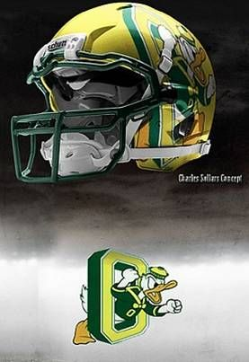 University of Oregon Ducks - concept football helmet