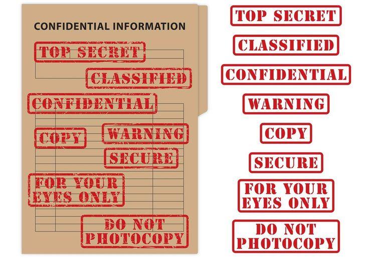 Top Secret & Confidential Stamp Vectors