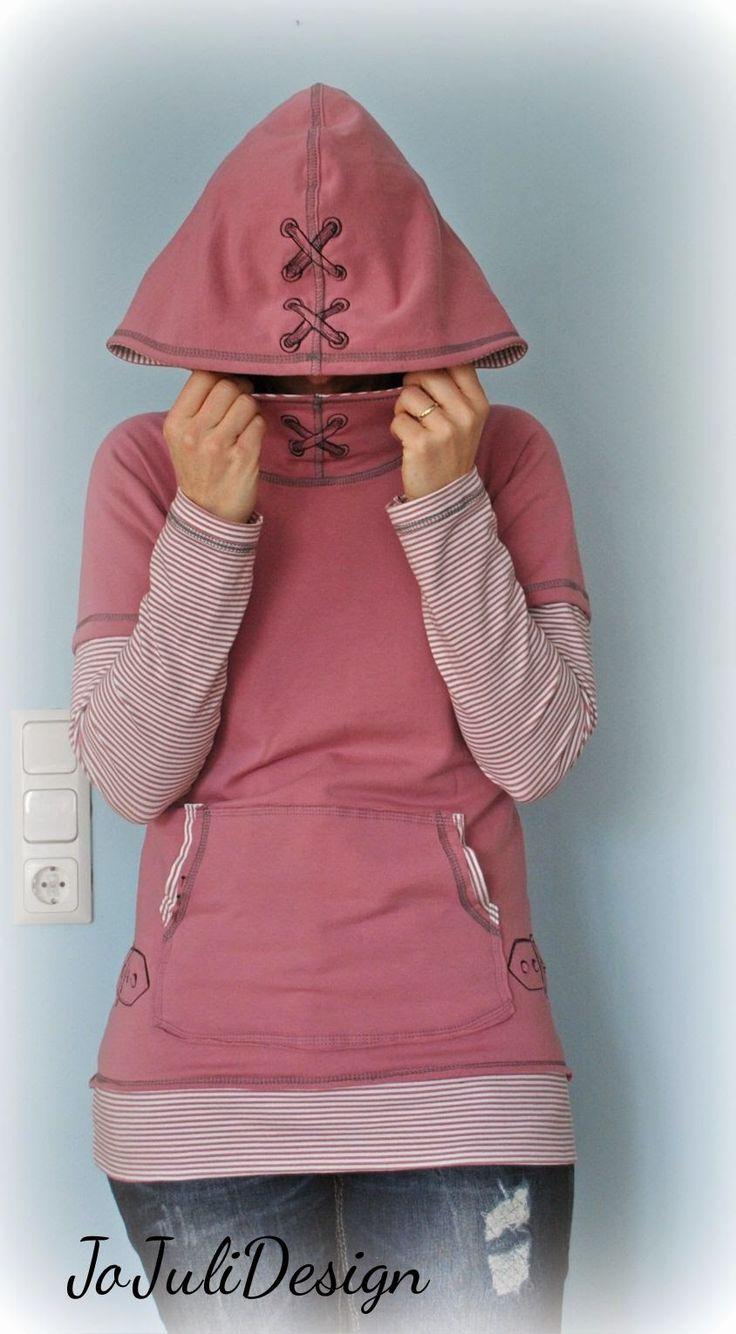 Kanga Hoodie Pullover Damen Schnittmuster