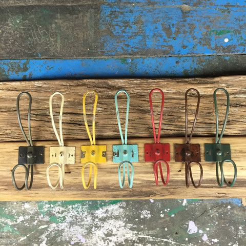 Coloured Metal Long Hooks - 20 pack - FREE SHIPPING!