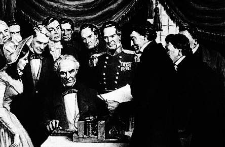 "Samuel Morse opens a telegraph line connecting Washington D.C. and Baltimore. The line officially opened on May 24,1844 when Morse sent the words ""What hath God wrought"" (a biblical quote from the Book of Numbers)"