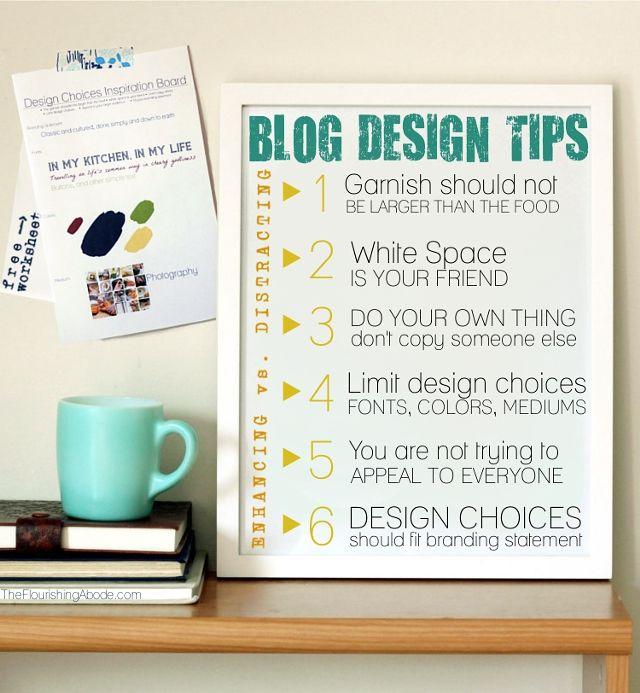 Blog Design Tips + Free Worksheet // Find it here: http://www.theflourishingabode.com/2012/07/diy-blog-redesign-design-tips.html