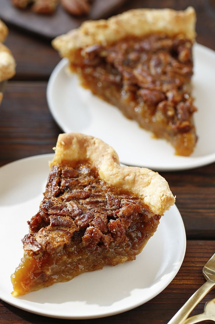 This is a classic and simple recipe given a Southern kick with a little bourbon. The alcohol will evaporate when you bake the pie, and you're left with a richly flavored, gooey dessert, intensely sweet with a baseline of vanilla. (Photo: Craig Lee for The New York Times)