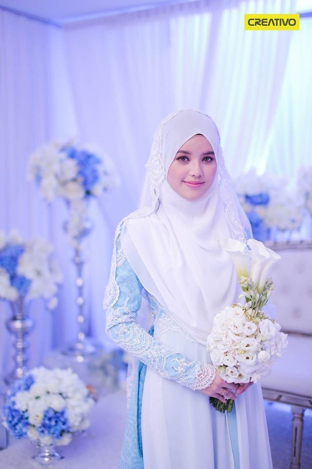 Dr Fatin Liyana on her beautiful solemnization dress.. Malay Wedding