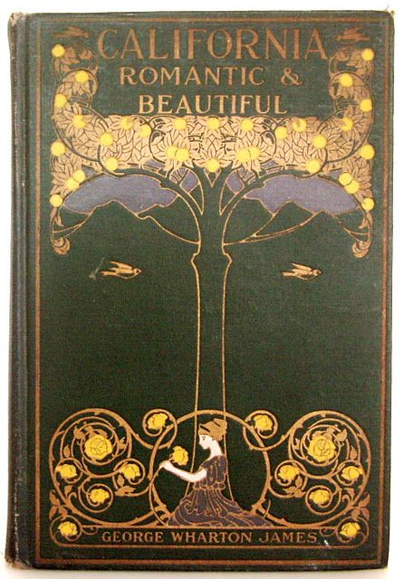 California, Romantic & Beautiful; Art Nouveau book cover