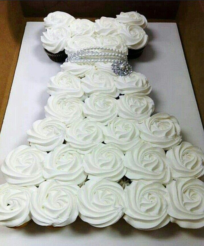 Cupcake Wedding Dress Perfect bridal shower/engagement party/bachelorette party idea