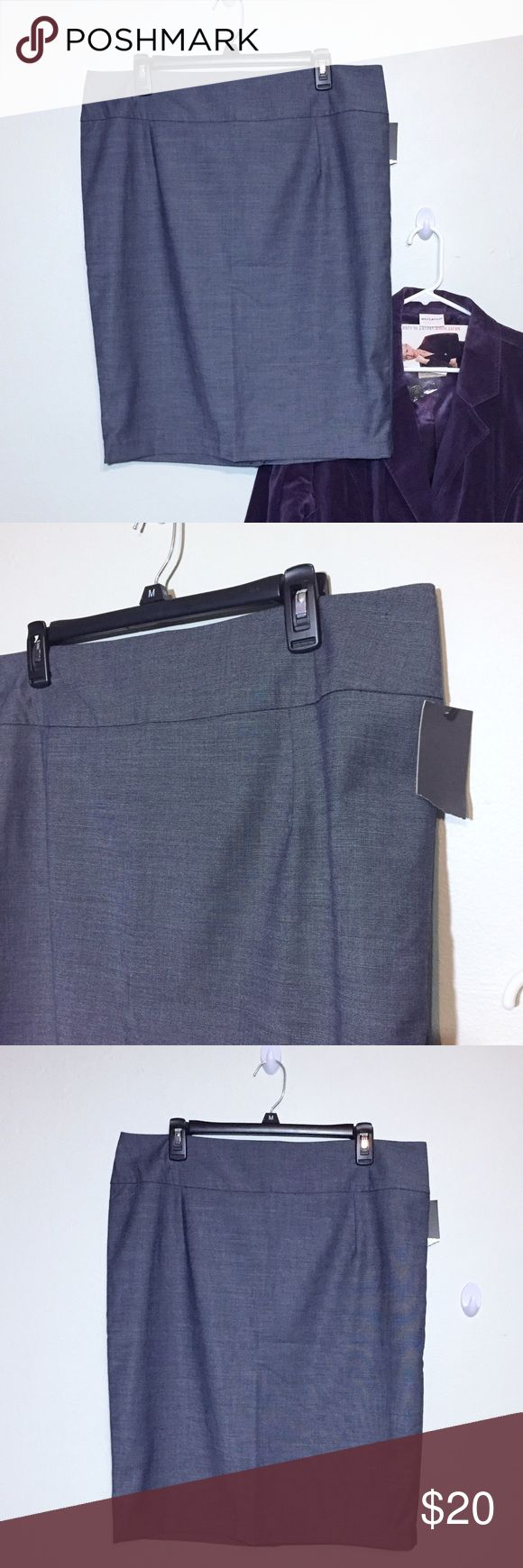 """NEW Mossimo Gray Pencil Skirt Plus 16 NEW With Tags! Mossimo Gray Pencil Skirt. Plus Size 16 measures flat approximately: 18"""" across waist, 22"""" across hips, 19"""" across bottom, 24"""" Long with 7"""" slit. Back zip closure. 81% poly, 17% rayon, 2% spandex. Fully lined 100% poly. Machine Wash. 127/50/010218 Grey office work career business job Mossimo Supply Co Skirts Pencil"""