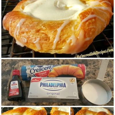 Crescent Cheese Danish @keyingredient #cheese