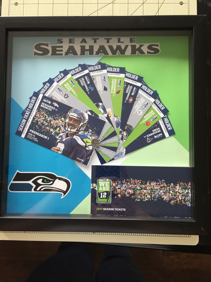 Seahawks season ticket display