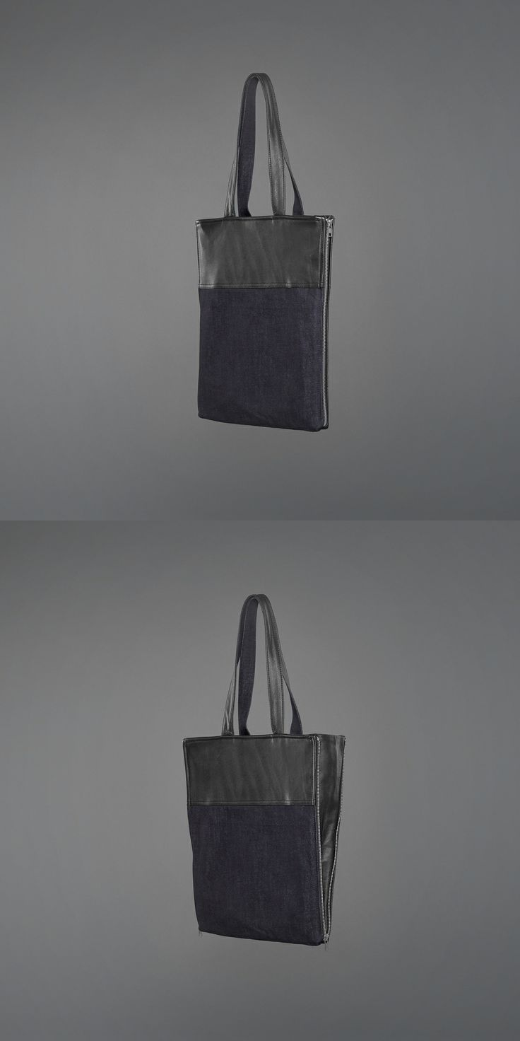 Annie Bag - denim & recycled leather http://ervinlatimer.com/product/annie-bag