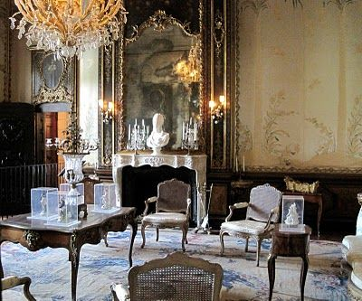 Venice Italy Venetian Palazzo Interiors | architect design™: Vizcaya: Reception Room and Library