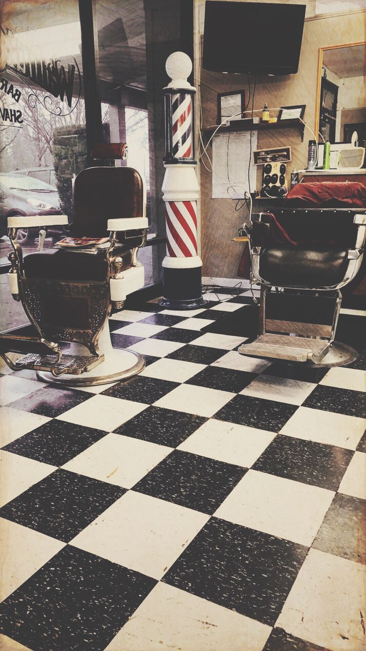 Classic barber shop chairs -  Classic With A Touch Of Tech An Old Fashioned Men S Barber Shop In The