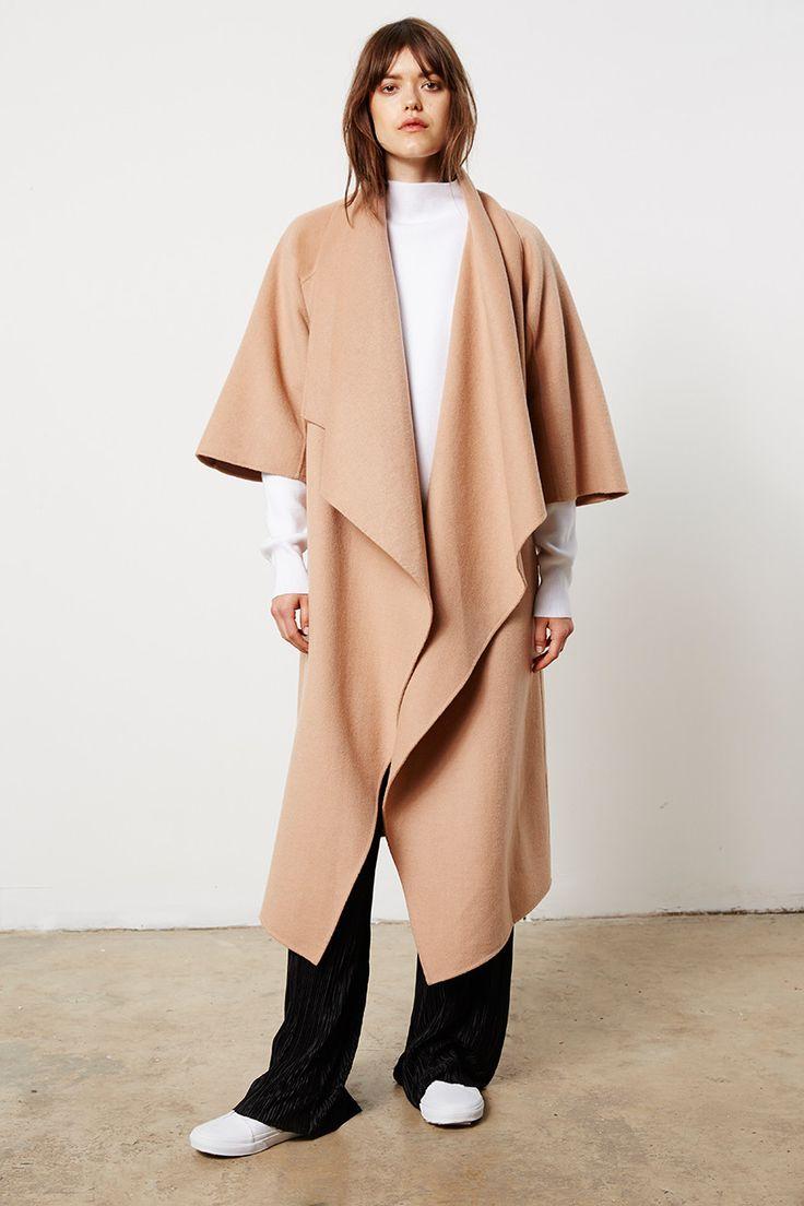 Friend of Audrey  - Oversized Camel Wrap Coat