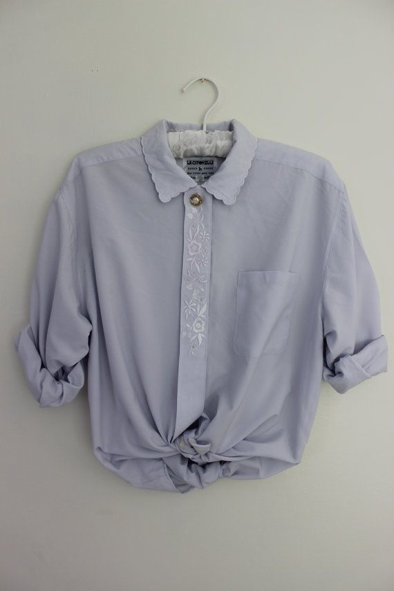 Vintage Blouse Shirt. Size M/L. Pastel Lilac. by VintageShirtShop, £20.00