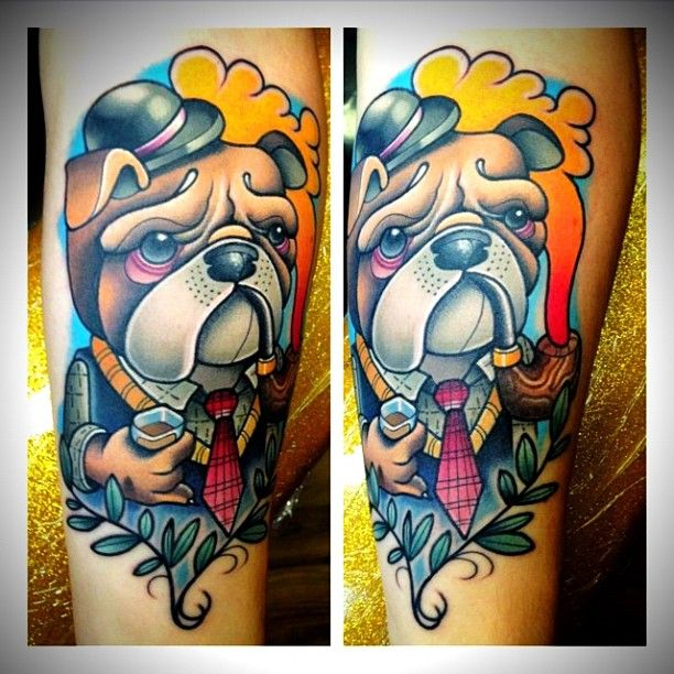 gentleman bulldog done by pat bennett at absolute ink in murfreesboro tn kunst pinterest. Black Bedroom Furniture Sets. Home Design Ideas