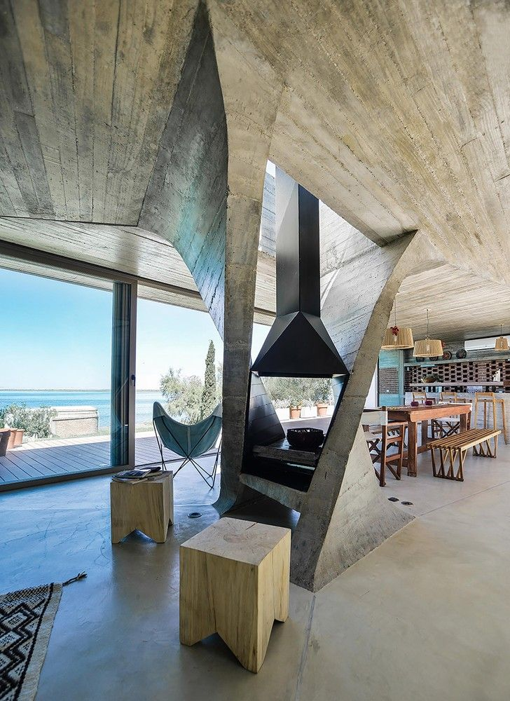 Gallery Of 35 Fireplaces That Spark Architectural Interest 16