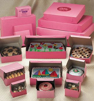Pink Bakery Boxes:The Box Depot
