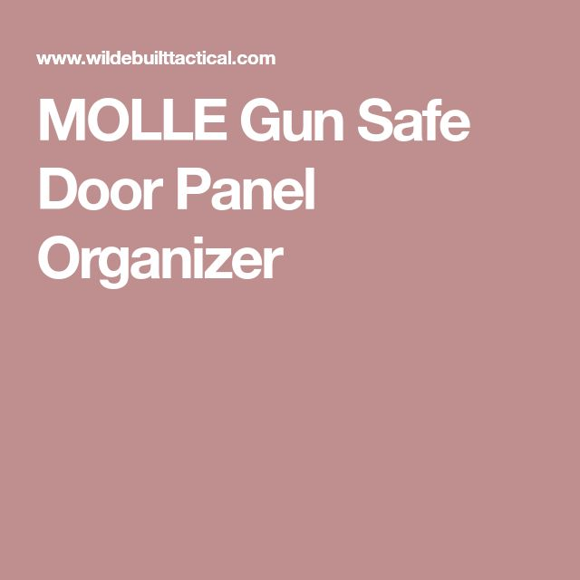 MOLLE Gun Safe Door Panel Organizer