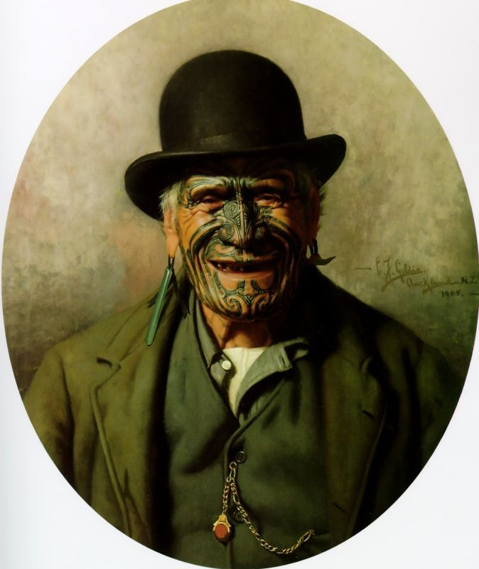 All 'e same t'e Pakeha by Charles Goldie, Oil on canvas