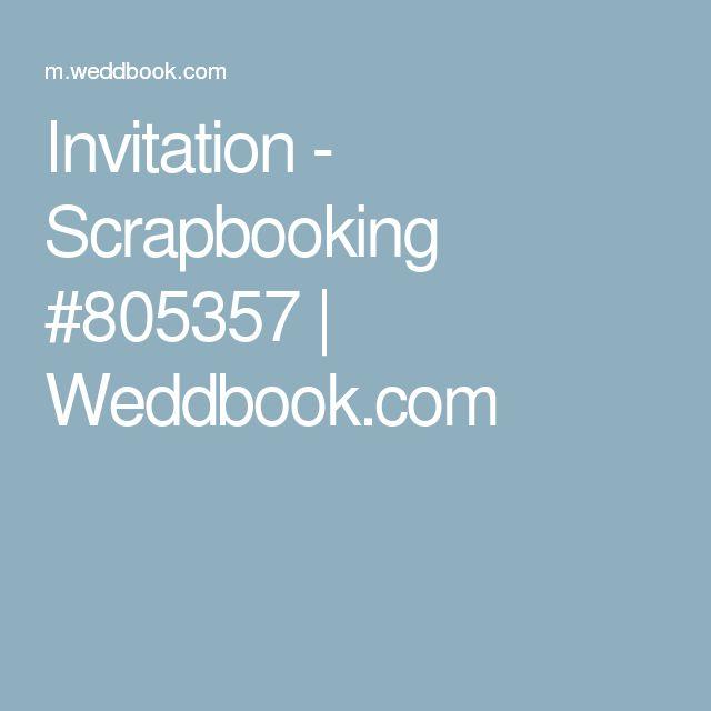 Invitation - Scrapbooking #805357 | Weddbook.com