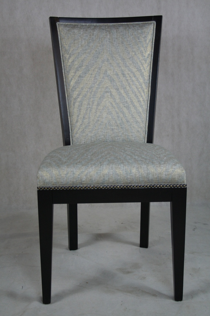 This dining room chair with its nailhead detail and espresso finish is the perfect compliment to - Nailhead dining room chairs ...