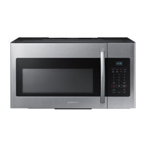Samsung Over-The-Range Microwave:  With the strong brand name of Samsung to protect it from all kinds of competition, this microwave will give you reliable performance without any of the bells and whistles. It even has an Eco mode that will keep the oven from soaking up excessive power and keep your energy bills in line.