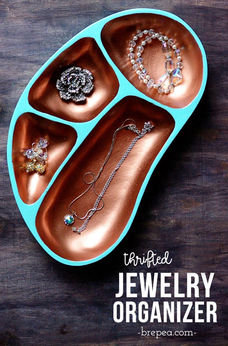 Thrifted Jewelry Organizer